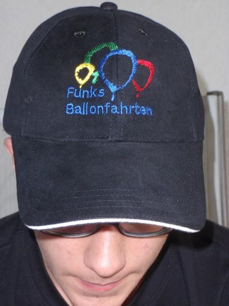 Kappe mit Ballon Logo blau